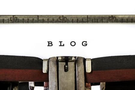 blog written on a typewriter