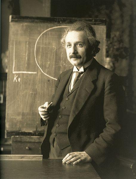 Einstein, not a business blogging genius