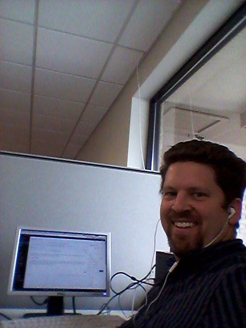 Paul Davis at his computer