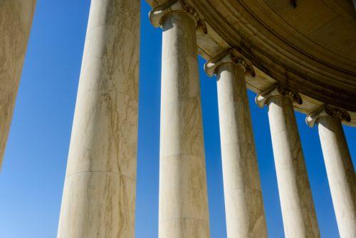 pillars-against-a-blue-sky