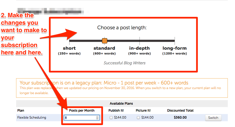 Making-changes-to-subscription-on-BlogMutt