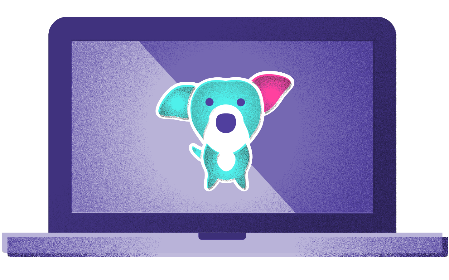 Buddy the BlogMutt dog in fancy new colors