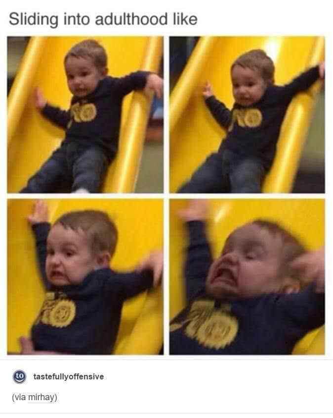 child-going-down-a-slide-sliding-into-adulthood-like-meme