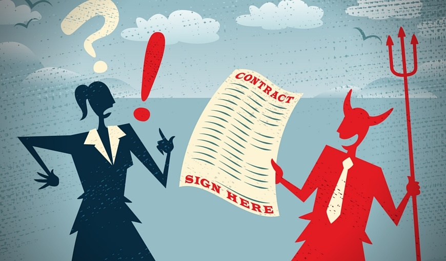 devil-offering-woman-to-sign-contract