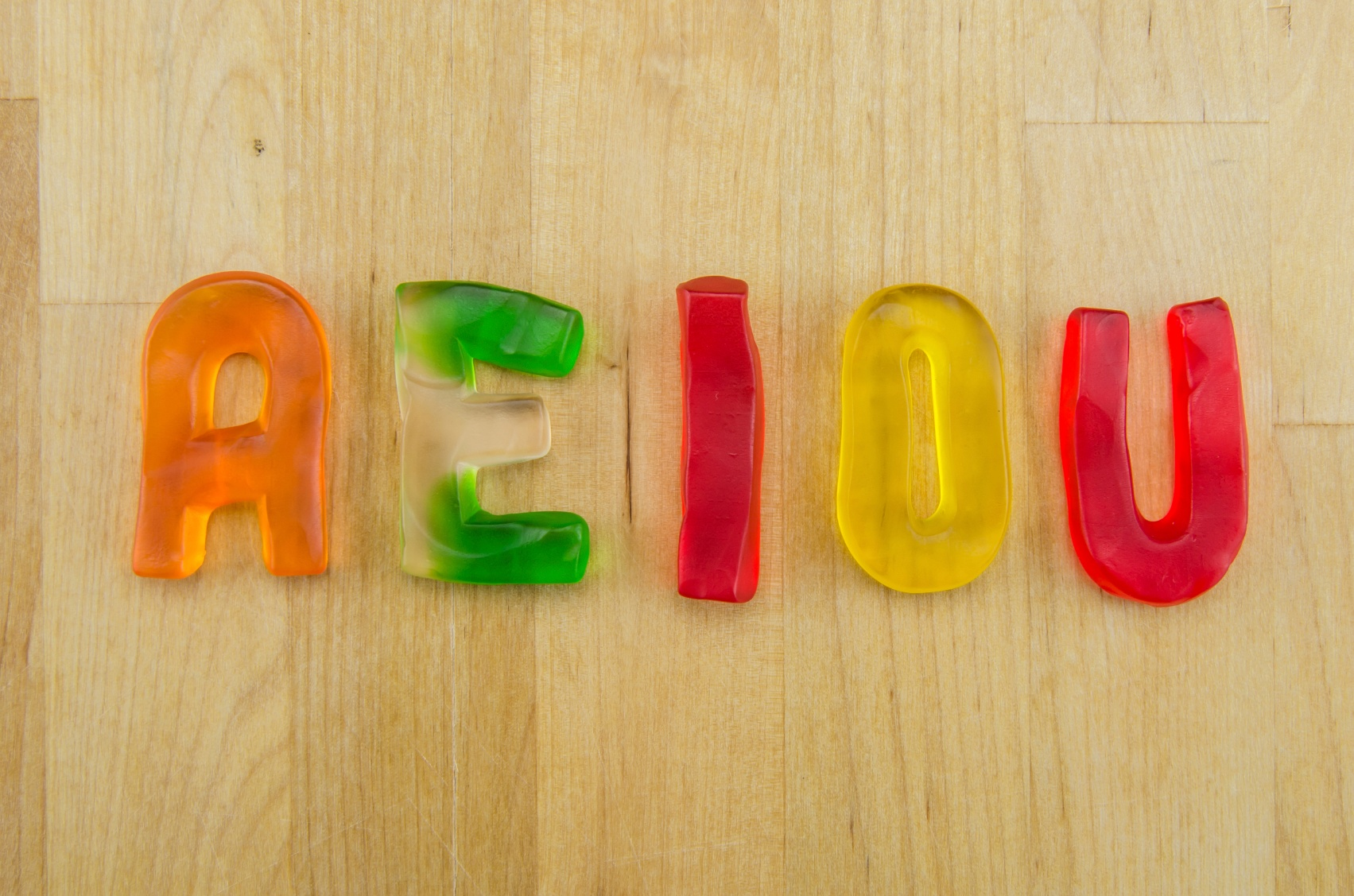 Vowels-a-e-i-o-u-colorful-gummy-candies