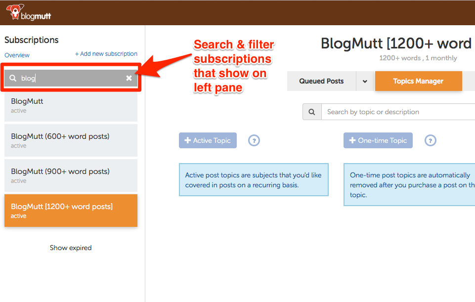 blogmutt-new-filter-subscriptions-page