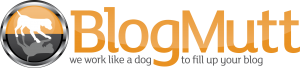 BlogMutt logo with tagline