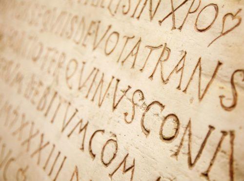 Latin-script-on-ancient-tablet