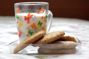 content writing milk cookies