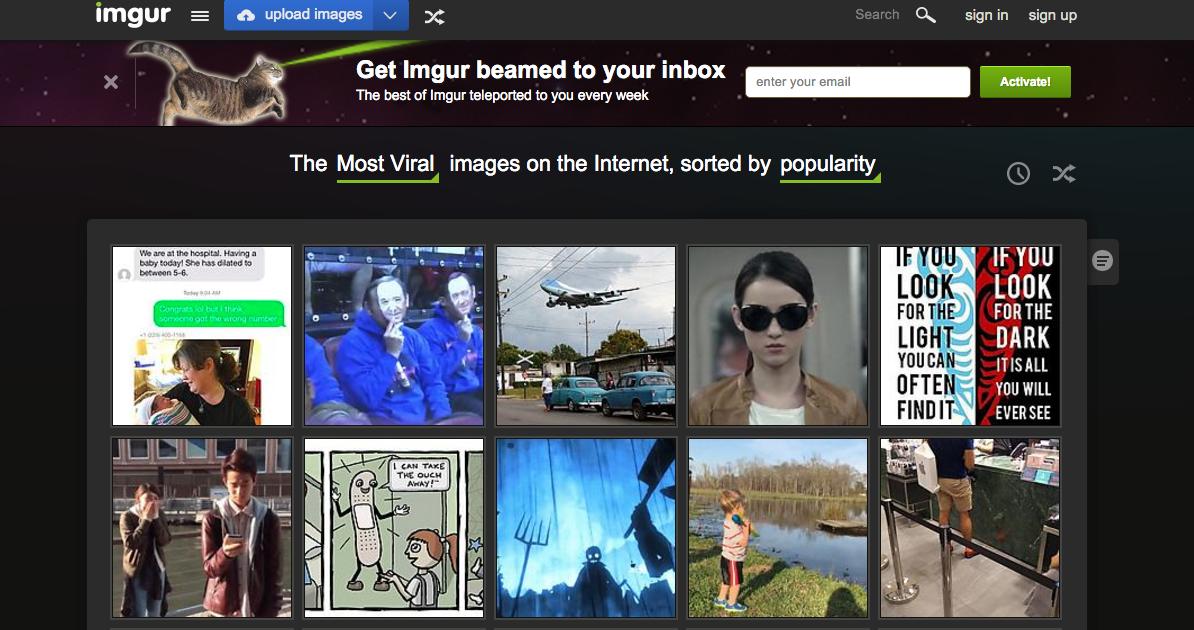 imgur-homepage