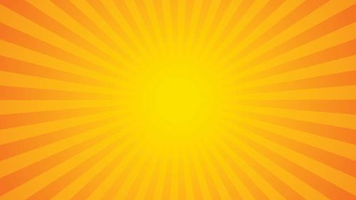 yellow-sunburst-on-orange-background