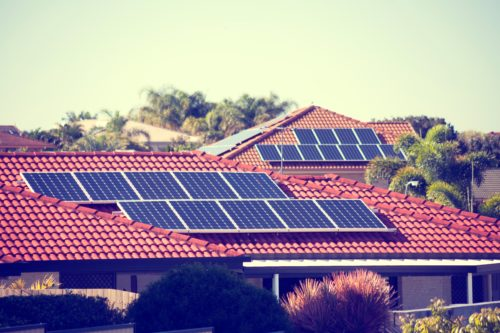 Several-solar-panels-installed-on-roof-of-house