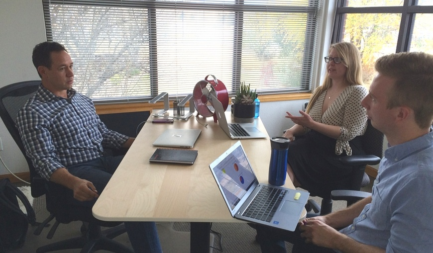 Verblio-CEO-Steve-Pockross-Courtney-Tobin-Kevin-Lawrence-in-office-meeting