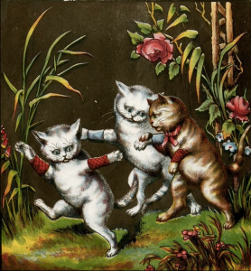 Contrary to the nursery rhymes, it looks like the three little kittens losing their mittens was a good thing!