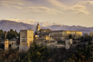The Alhambra in Granada southern of Spain