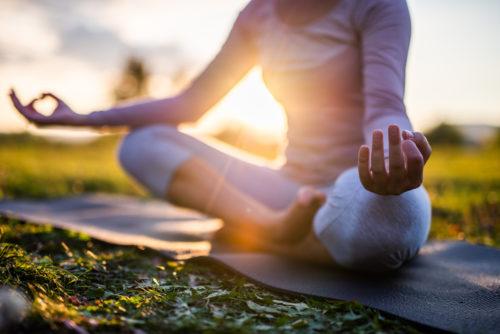 wellness yoga pose outside