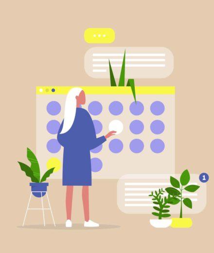 content marketing calendar template animation