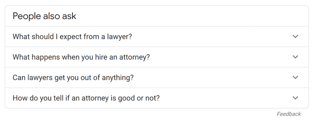 common questions people ask about lawyers