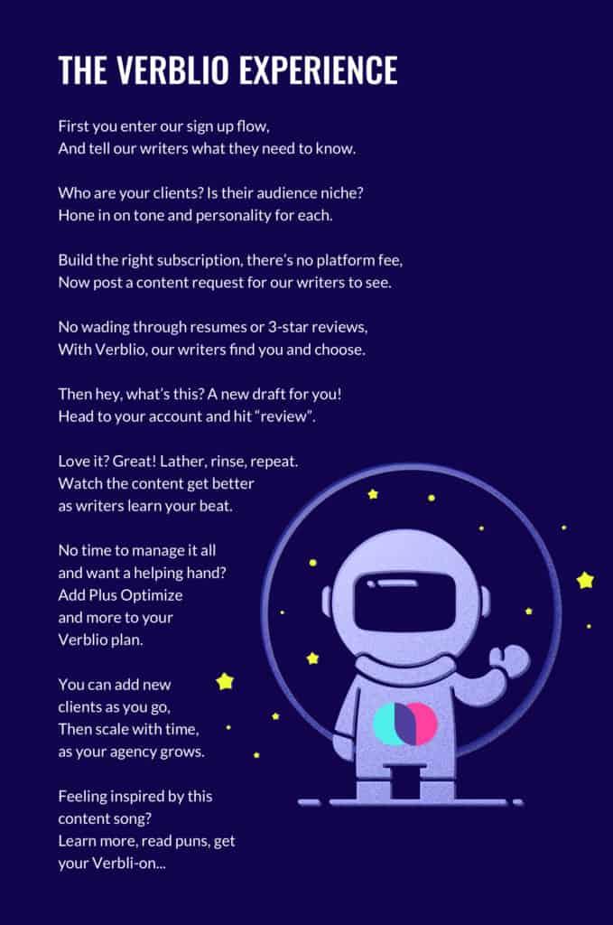 Verblio Poem